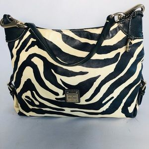 Dooney & Bourke Zebra Print Hobo